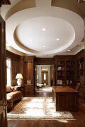 欧式客厅造型吊顶装修效果图