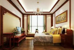 韩式卧室窗台榻榻米效果图