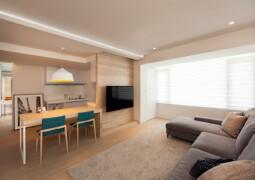 最大化空间的简约风格公寓设计