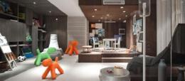简欧风格家庭室内装修样板房效果图
