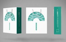绿色复古茶叶环保包装袋手提袋设计