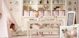传统风格的国外家庭室内装修效果图小女孩房间设计