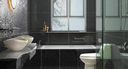 宽敞大气的家庭卫生间装修案例欣赏
