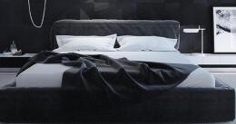 9个酷酷的黑色主题卧室设计