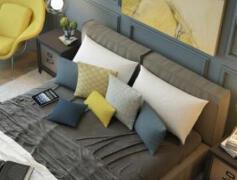 配色非常赞的主卧室装修效果图