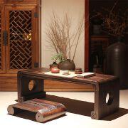 日式折叠榻榻米茶几炕桌飘窗桌简约现代烧桐木桌子迷你炕桌实木小茶几