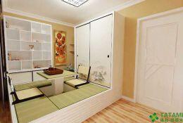 典雅到极致的配色的榻榻米书房装修设计欣赏