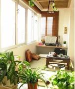非常舒适的阳台榻榻米效果图欣赏