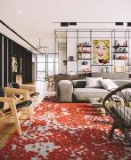 特拉维夫波普艺术风格的开放式住宅设计