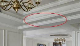 客厅装修老公就不做吊顶,用石膏线简单装饰,看到效果真是美爆了
