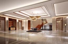十分壮观的酒店大堂效果图设计欣赏