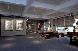 今年最新富有古韵的书画展厅设计