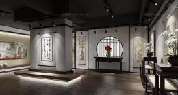 2018古色古香的书画展厅设计