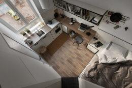 小户型的单身公寓应该怎样设计呢?