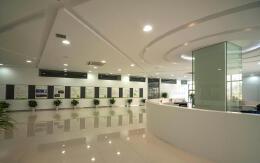 工厂办公楼大厅装修设计效果图