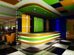 小清新多个的多彩现代吧台设计欣赏