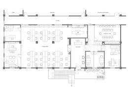 1000人的办公楼平面图一层设计欣赏