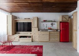 圣保罗36平米Loft小公寓设计旋转楼梯设计