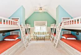 上下床英式风格寝室装修设计欣赏