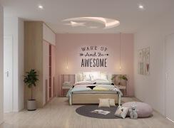 粉红色少女心的儿童房装修设计效果图欣赏