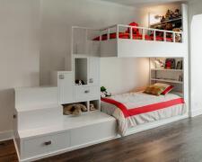 2床的儿童房寝室设计效果图欣赏
