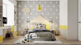 明亮的黄色风格活力儿童房间设计个性家装设计