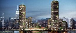 个解决未来发展的浮动结构方案商业街效果图