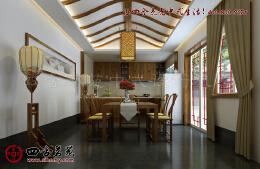 中式厨房装修效果图——带给人端庄优雅的饮食格调
