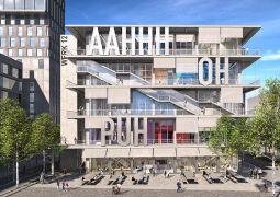 德国慕尼黑城市火车东站站附近在建建筑效果图欣赏