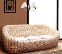 多人沙发可爱沙发休闲时尚柳编沙发图片欣赏