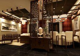 大气古朴的茶馆装修设计图片欣赏