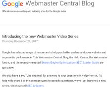 谷歌更新了SEO入门指南文档和视频教程