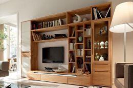 原木木柜电视柜设计图片欣赏