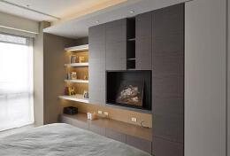 低调奢华的电视柜设计装修图片欣赏