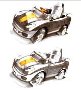 工业产品-手绘-童车