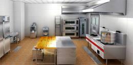 饭店大型餐厅商用厨房装修设计图片
