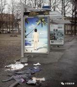 遇到这样有创意的候车亭广告,我觉得我能待上一整天!