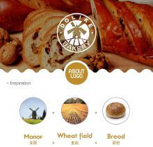 多力克面包店logo设计