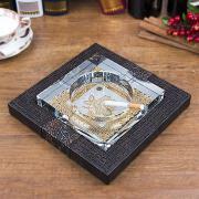 水晶与金属合金的强强组合创意时尚烟缸欣赏