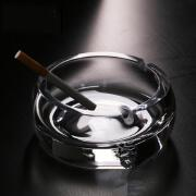 欧式复古客厅办公室用水晶玻璃烟灰缸