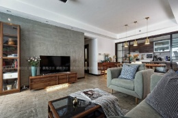 一组现代中式风格客厅装修效果图欣赏