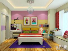 儿童房手绘效果图——选择孩子喜欢的布景