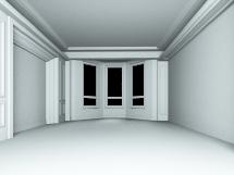 白模卧室三维模型