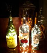 三种玻璃瓶废物利用的小创意