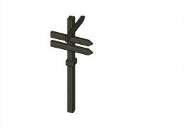 木制指路牌指示牌设计