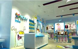 公司的童装专卖店装修太舞台风了