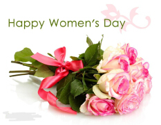 妇女节祝福语愿你们整日微微笑!