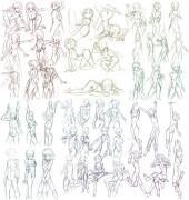 游戏原画动漫人物1000种人体造型教程
