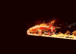 PS制作设计超酷的火焰汽车教程火焰字教程