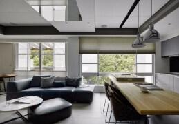 31坪自然、都会共构品酩小酌与树同居,家庭室内装修效果图欣赏